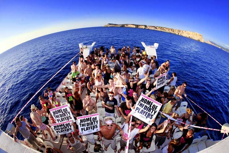 crowd of people on Pukka Up Boat Party Ibiza