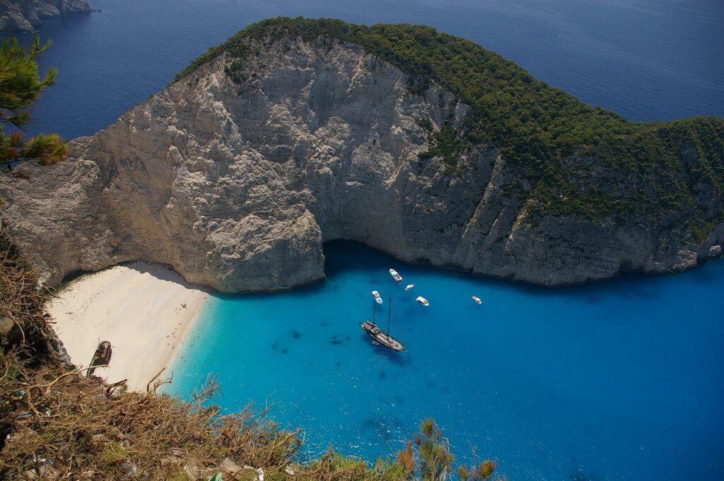 beach lagoon in Zante greece