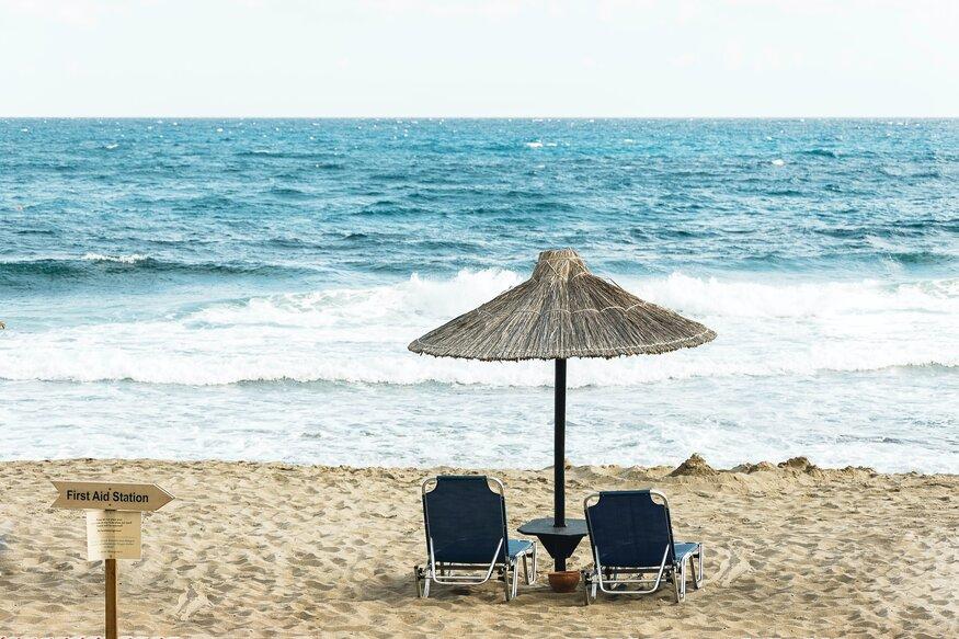 Beach in Malia