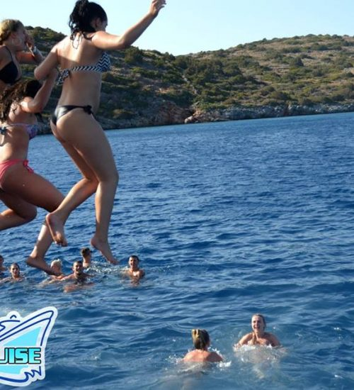 Jumping in the sea