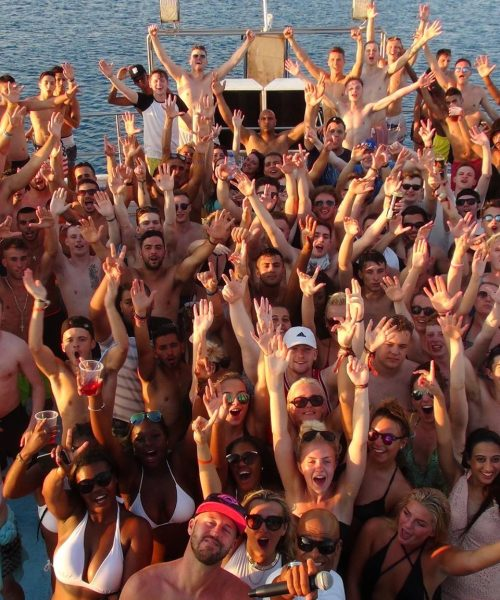 Party people on the fantasy boat party