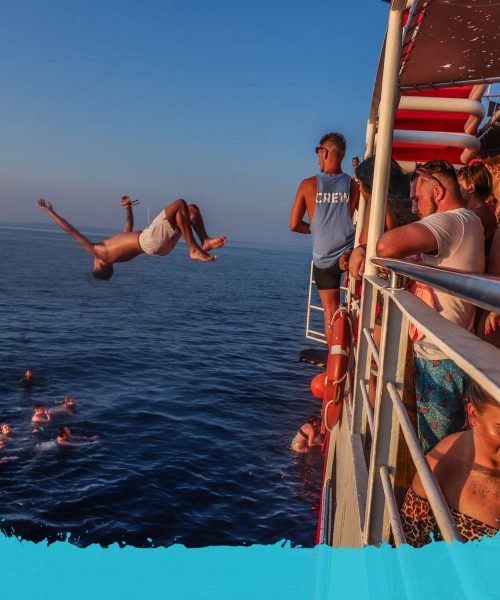 back flip on the boat party