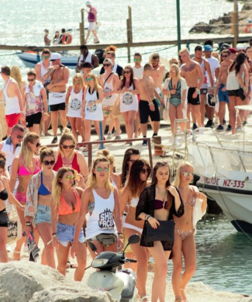 People boarding the boat party