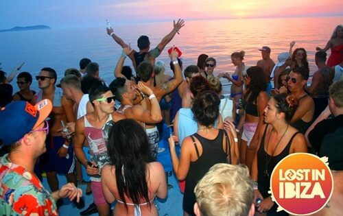 lost in ibiza boat party sunset